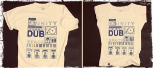 Every Unity Dub The Space - white tshirt
