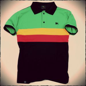 Dub Lion rasta polo
