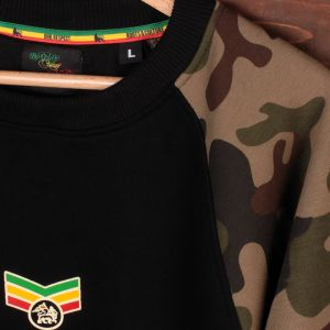 Reggae Warrior camo crewneck