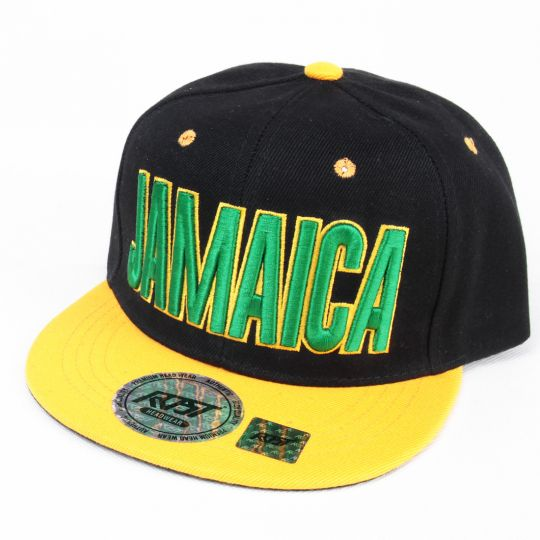 Czapka Snapback Jamaica | Black & Yellow