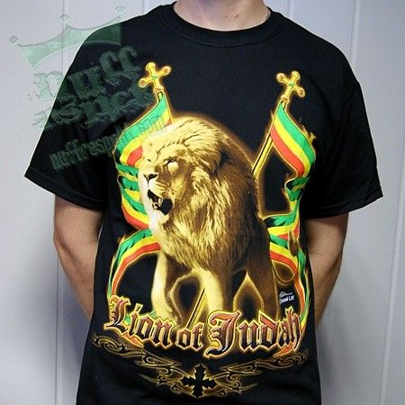 Lion of Judah full rasta tshirt