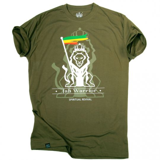 Jah Warrior Spiritual Revival | olive t-shirt
