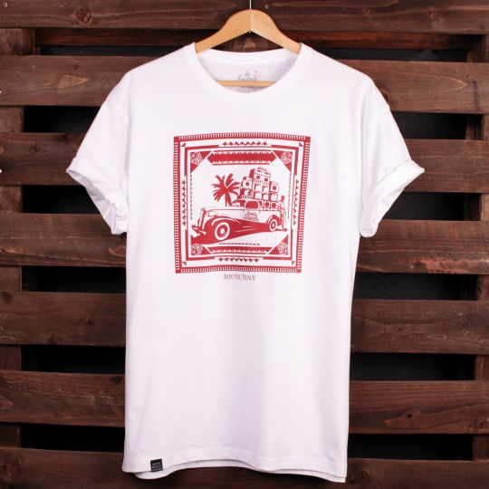 Run The Track - Roots Shack t-shirt | white
