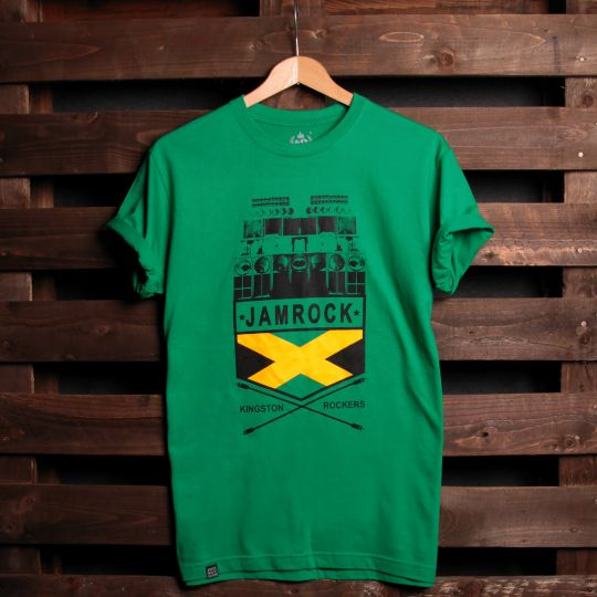 Jamrock Kingston Rockers t-shirt | green