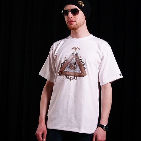 Tshirt męski - Nuff Wear - Wood & Chain 00513 - white