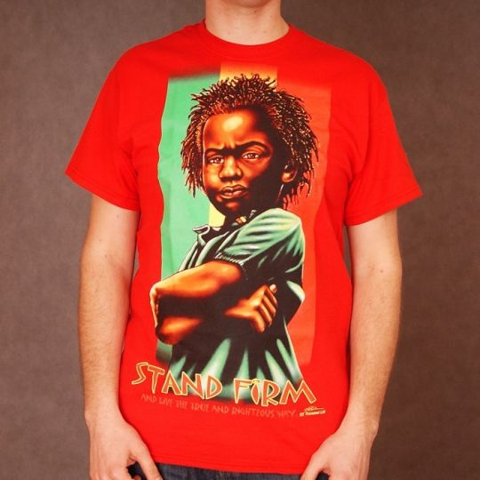 Rasta Baby tshirt - Stand Firm - red