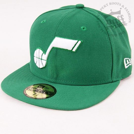 New Era Full Cap Utah Jazz League Basic NBA Kelly / White