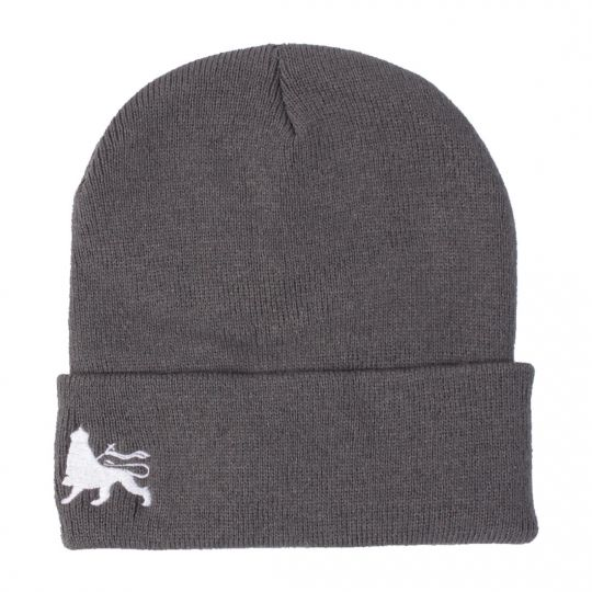 Fisherman winter hat  Docker cap Lion of Judah  | gray