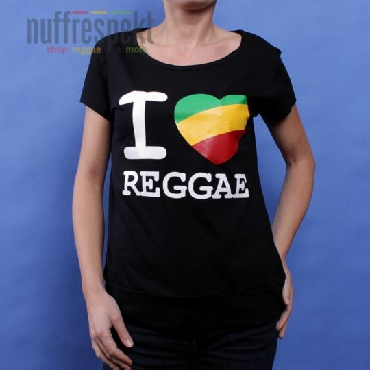 I Love Reggae - Irie Lion ladies t-shirt