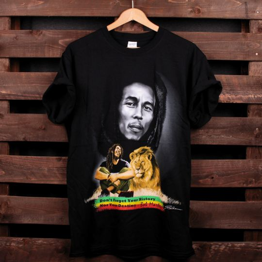 Don't forget your history Nor you destiny - Bob Marley tshirt