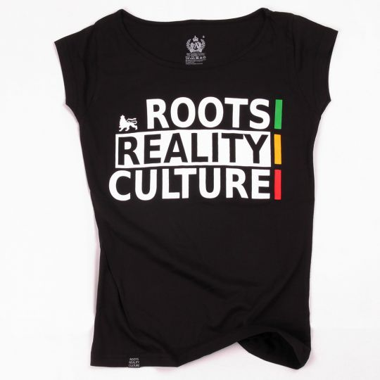 Ladies tshirt - Roots Reality Culture | black
