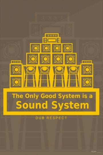 Plakat The Only Good System is a Sound System - P201603