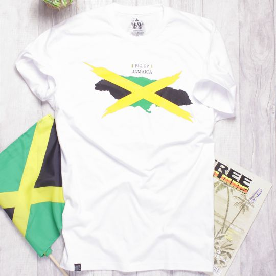 Big Up Jamaica | white tshirt