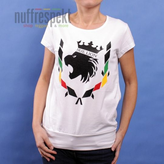 Irie Lion ladies t-shirt - white