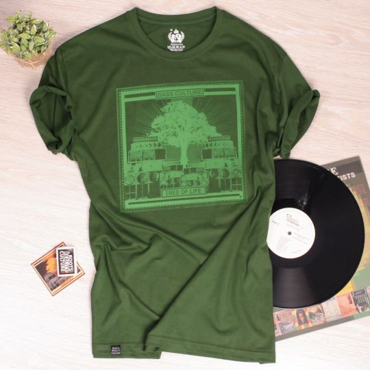 T-shirt Tree of Life - Bass Culture | zieleń butelkowa