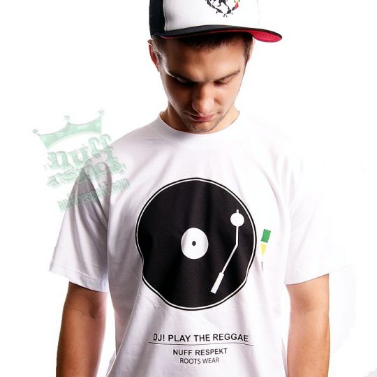 Koszulka DJ! Play The Reggae - Nuff Respekt Roots Wear