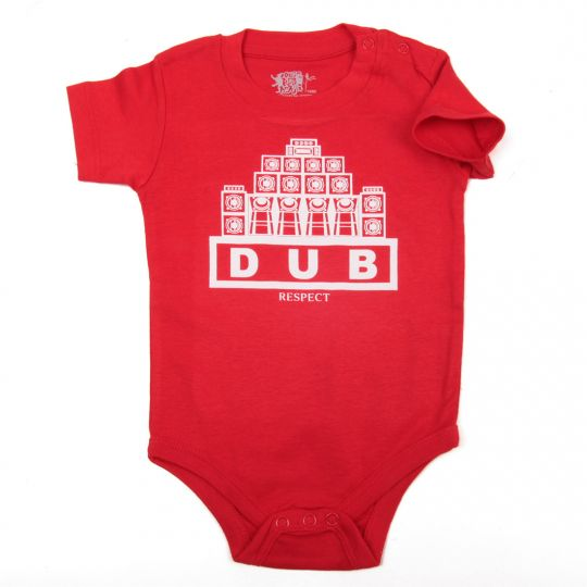 Short Sleeve Baby Body| Dub Respect - red