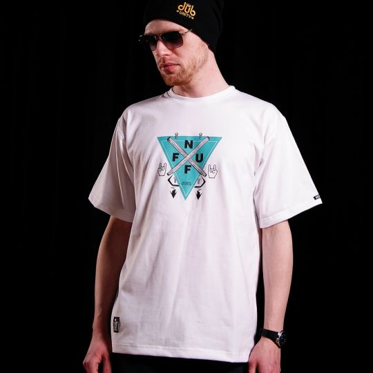 T-shirt męski Nuff Wear - Manufacture 0114 - white