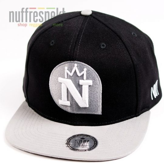 Nuff Wear snapback cap - Black & Gray