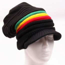 Black + Rasta Dreadlock hat