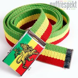 Pasek z klamrą Lion of Judah - Rasta