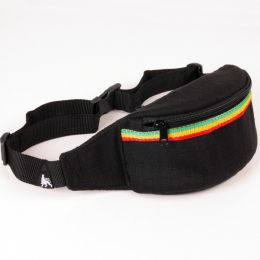 Dub Respect bum bag / black + rasta