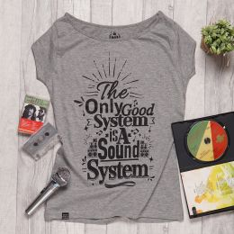 The Only good system is A Sound System ladies tshirt