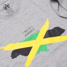 Tshirt Big Up Jamaica | szary