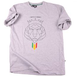 T-shirt Nuff Lion Roots Wear - gray