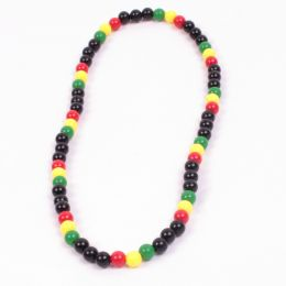 Black beads with rasta elements