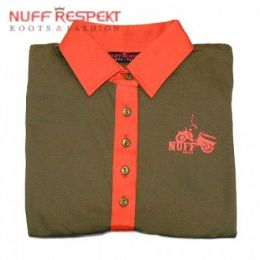 Old-school, vintage polo shirt -olive