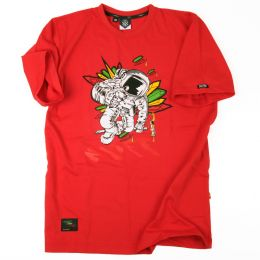 Tshirt męski Nuff Wear Spaceman | red