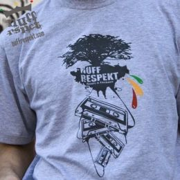 Nuff Rspct tee Cassette Tree - grey
