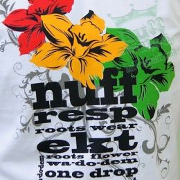 Tshirt One Drop Flowers - rasta regga