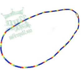 Blue beads with rasta elements