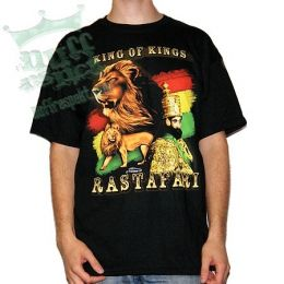 King Of Kings Rastafari tshirt