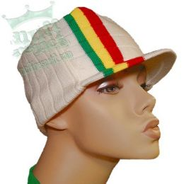 Rasta hat - white