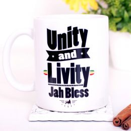 Unity and Livity Jah Bless Coffee Mug or Tea Cup 330 ml