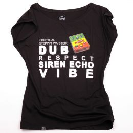 Spiritual Steppin' Warrior / Dub Siren | Black ladies t-shirt