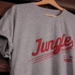 Tshirt Jungle is Massive | szary