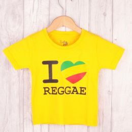 Kids t-shirt | I love Reggae