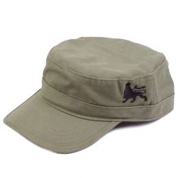Army flat cap Lion of Judah | olive