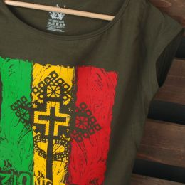 T-shirt damski Zion Gate Jah Light | khaki