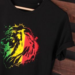 Rasta Jah Lion t-shirt | Organic Cotton