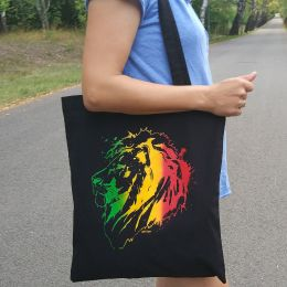 Jah Lion Rasta Tote Bag