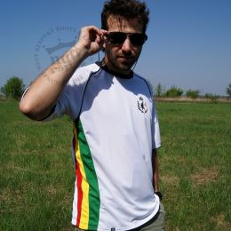 Football T Shirt - Reggae Team - Nuff Respekt white