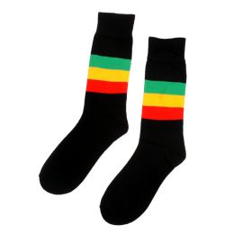 Rasta stripe socks
