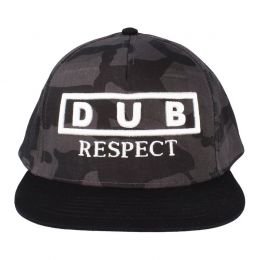 Dub Respect snapback cap | Midnight camo