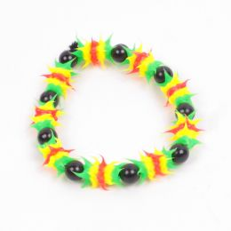 Rasta glow in the dark bracelet