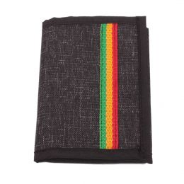 Dub Lion wallet | black melange + rasta